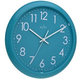 Acctim 21899 abingdon wall clock aqua blue amazoncouk for Blue kitchen wall clocks