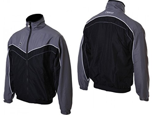 Prostar Lunar Football Rugby Mens Training Jacket - Black/Grey
