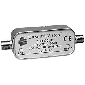 CHANNEL VISION SAT-20DB In-line Amplifier for Dbs