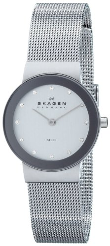 Skagen Ladies Silver Dial Mesh Bracelet Watch - 358SSSD