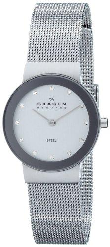 Skagen Ladies Silver Dial Mesh Bracelet Watch - 358SSSD
