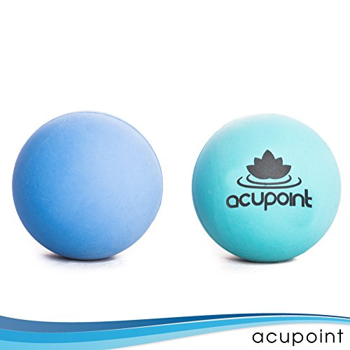 """Acupoint"" Set Of Two Therapy Balls, Ideal For: Yoga, Deep Tissue And Trigger Point Therapy Relief Or Self Myofascial Release. Great For Acupressure Points."