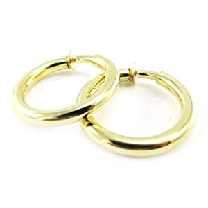 Creole clips 'Chorégraphie' golden (3 cm (0.00'') ).