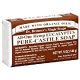 DR. BRONNER'S MAGIC SOAPS , Organic Pure Castile Bar Soap Eucalyptus - 5 oz ( Multi-Pack)