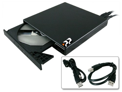 High Quality Black USB Laptop Slimline USB External CD Rom CD-RW DVD-ROM CDRW Combo Drive for Dell Latitude Dell Inspiron Dell Mini 9 Dell Mini 10 Dell Mini 12 Laptops and Netbooks BY Z-DRIVE