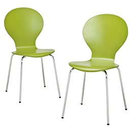 Product Image Modern Stacking Chairs 2 pk - Green