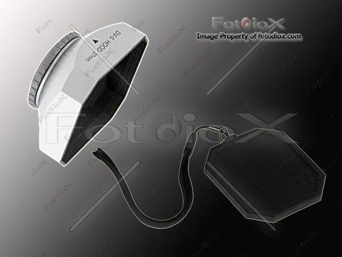 Fotodiox Video Camera, Camcorder DV Lens Hood, Sun Shade, 27mm Silver