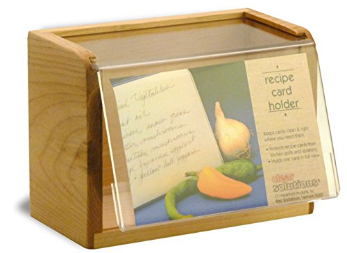 Maple Recipe Box - Holds 4x6 Inch Cards - Made in the USA (Recipe Box Clear compare prices)