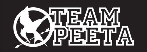 Hunger Games Team Peeta Mocking Jay Sticker Decal. White