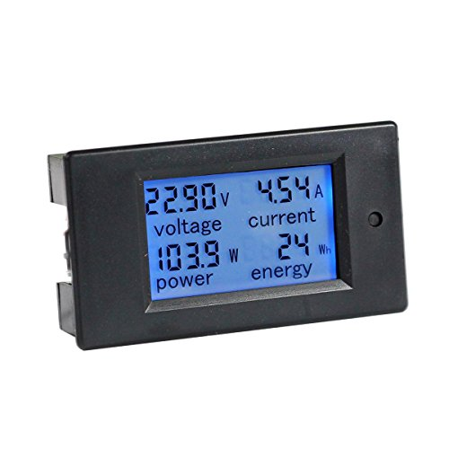 bayite DC 6.5-100V 0-100A LCD Display Digital Current Voltage Power Energy Meter Multimeter Ammeter Voltmeter with 100A Current Shunt (12 Volt Digital Meter compare prices)