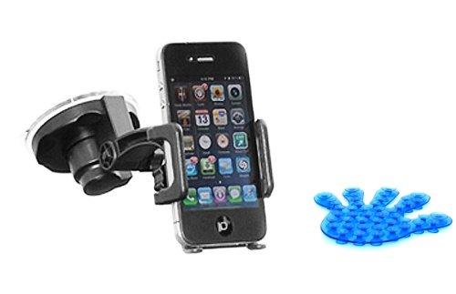 Universal Car Holder Window Mount Dock with Suction Cup for US Cellular HTC Merge (Comes with FREE Suction Phone Holder)