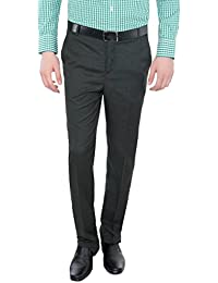 Only Vimal Men's Blue Slim Fit Formal Trouser