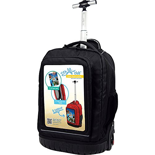 selfie-club-18-inch-rolling-backpack-with-personalized-front-pocket-black-one-size