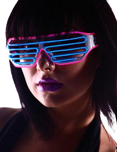 Emazing Lights 2-Color Light Up EL Wire Shutter Rave Glasses