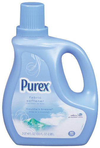 Purex Liquid Fabric Softener Mountain Breeze, 100 Ounce (Pack of 4)