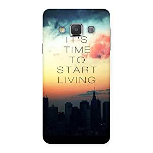 Delighted Its Start Living Back Case Cover for Galaxy A3