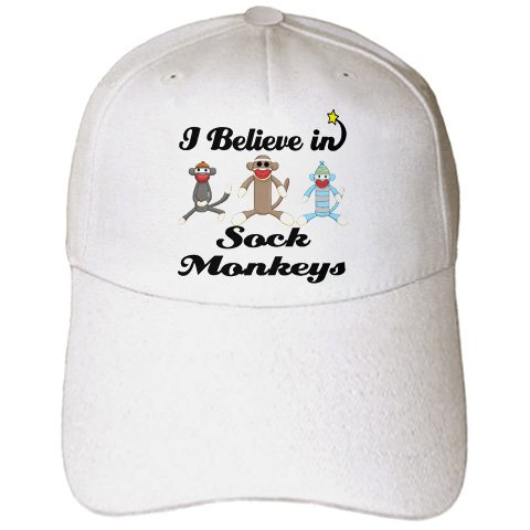 I Believe In Sock Monkeys - Adult Baseball Cap
