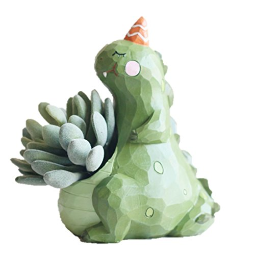 LightningStore Cute Green Dinosaur Unicorn Alligator Crocodile Blue Elephant Whale White Duck Succulent Plants Personalized Office House Balcony Landscape Creative Decorative Flower Pots