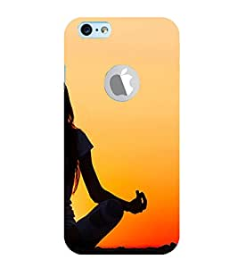 Girl Doing Yoga 3D Hard Polycarbonate Designer Back Case Cover for Apple iPhone 6Logo :: Apple iPhone 6S