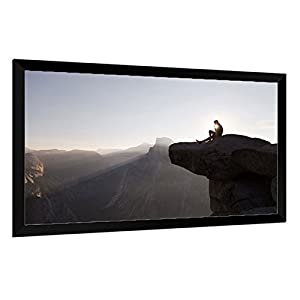 Carl's Fixed Frame Projection Screen Kits, FlexiGray (16:9 | 120 inch Diag. | 5x9 Ft | Rolled) HD/High-Def, Indoor Projector Screen, Low-Mod Ambient Light, High Contrast Gray, Gain 0.8