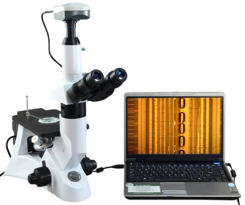 Omax 40X-400X Top Quality Inverted Infinity Polarizing Metallurgical Microscope With 9.0Mp Usb Camera