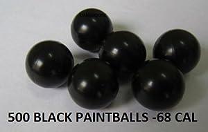 500 Black Paintballsl Standard Grade -68 Cal by DANGERZONE