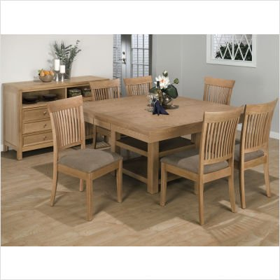 Buy Low Price Jofran 7 Piece Square to Rectangle Dining Table Set with Norse Chair in Light and Natural (420-62T / 420-62BL / 420-610KD)