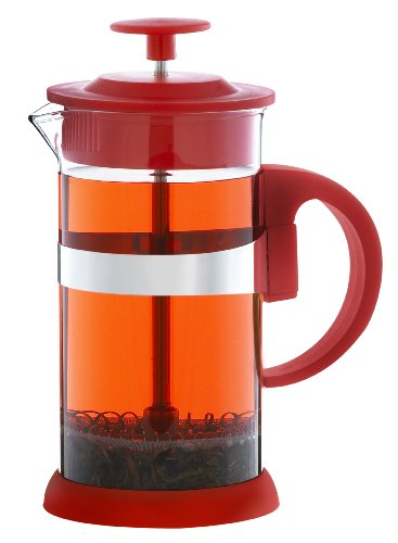 Grosche Zurich Glass French Press Large (350ml - 11.8oz) Red