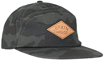 Brixton Men's Wharf Cap, Black/Camo, One Size