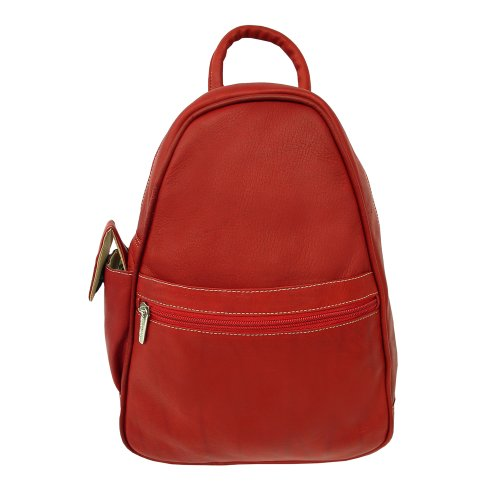 B000LYZFVE Piel Leather Tri-Shaped Sling Bag, Red, One Size