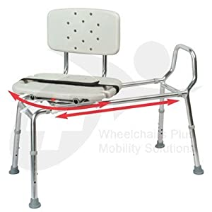 New Eagle 37662 Swivel Seat Sliding Bath Transfer Bench Health Personal Care