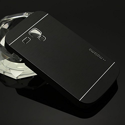 Motomo Premium Brushed Full Metal Protective Hard Back Case Cover For Samsung Galaxy S3 Mini - Black  available at amazon for Rs.249
