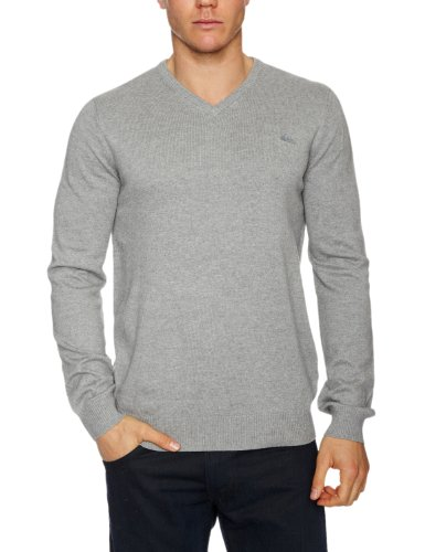Quiksilver Rekaya V Mens Sweatshirt Light Grey Heather Small
