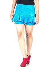 Trendbae Blue Anchor Print Skirt For Women