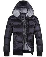 Hee Grand Men's Luxury Faux Fur Long Winter Trench Coat