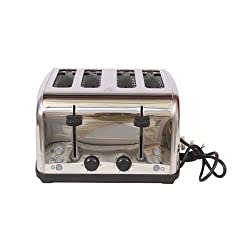 Black & Decker ET304 4-Slice Stainless Steel Pop-up Toaster with Dual Control
