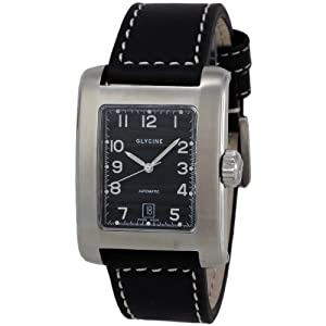 Glycine Men's 3816-19-LB9 Rettangolo Analog with Rectangle Dial Watch
