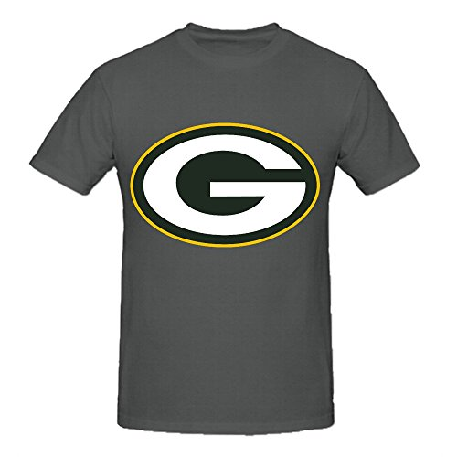 NFL Green Bay Packers Team Logo Crew Neck T Shirts For Men Casual Grey (Stats Pool Table compare prices)