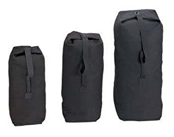 Canvas military duffle bag black