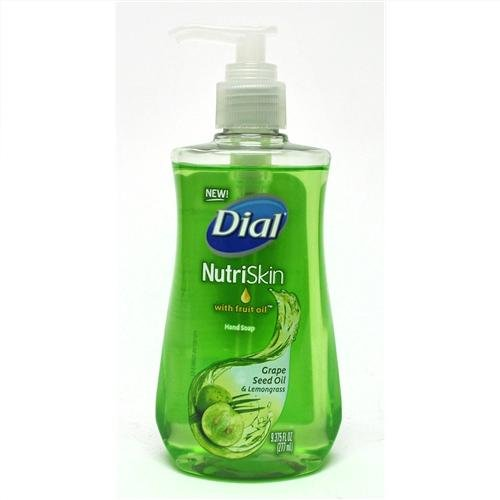 Dial Nutriskin with Fruit Oil Hand Soap Grape Seed Oil & Lemongrass 9.375 Oz. (Pack of 3) (Dial Nutriskin Grape Seed Oil compare prices)