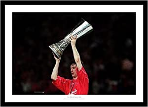 Liverpool Fc Robbie Fowler With 2001 Uefa Cup Framed Picture Memorabilia
