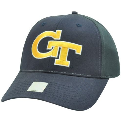 NCAA Twill Cotton Velcro Two Tone Adjustable Hat Cap Georgia Tech Yellow Jackets at Amazon.com