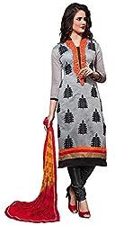 The Desi Attire Women's Chanderi Cotton Unsticthed Dress Material (8107_Cream_44)