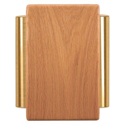 Heath Zenith 79/M Traditional Décor Series Wired Door Chime, Solid Oak with Satin Brass Tubes