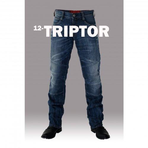 ESQUAD - Pantalon moto jean TRIPTOR - Taille : 30 US / 40 FR - Couleur : Bleu...