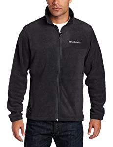 Columbia Men's Steens Mountain Full Zip 2.0 Fleece Jacket, Charcoal Heather, Large