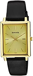 Sonata Analog Gold Dial Mens Watch - 7078YL02