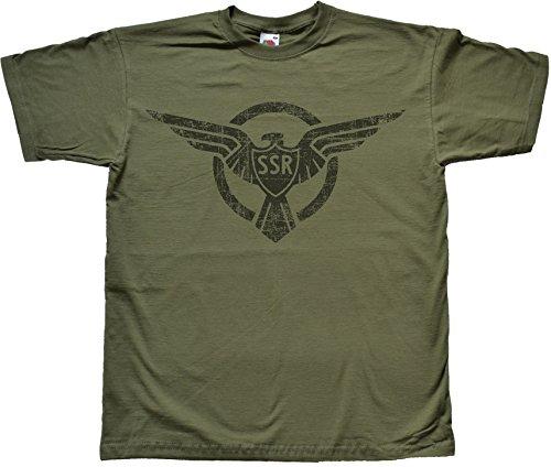 Distressed SSR Strategic Scientific Reserve Verde T Shirt Large