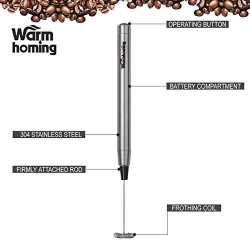 stainless steel manual milk frother