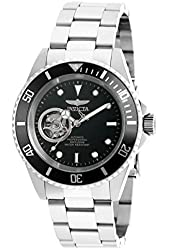 Invicta 20433 Men's Pro Diver Black Dial Steel Bracelet Automatic Dive Watch